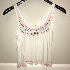 LA Hearts Embroidered Tank Top